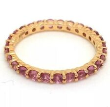 18ct rose gold pink sapphire full eternity ring, new, actual one, UK size L 🇬🇧