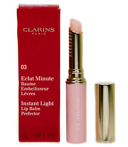 CLARINS Instant Light Lip Perfector 03 My Pink Colour changing Balm/Lipstick NEW