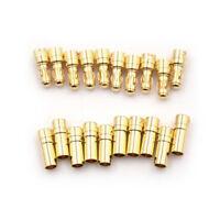 10 Paar 3,5mm Gold-plated Bullet Bananenstecker Männlich Und Weib ML