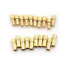 10Pair 3.5mm Gold-plated Bullet Banana Plug Connector Male And Female C&H