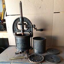 Vintage Enterprise Cast Iron 4 Quart Sausage Stufferjuicerlard Press