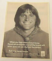 1979 Boy Scouts ad page ~ BRUCE JENNER