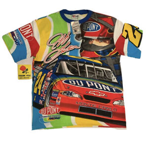 Vintage NEW WITH TAG Y2K RARE Jeff Gordon Chase Authentics T-Shirt