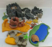Playmobil Western Gebirge Konvolut verschiedene Gebirgsteile, braun und schwarz