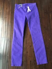 J Brand NWT Skinny Leg Jeans Bright Purple Japanese Luxe Twill Size 26