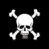 SKULL and CROSSBONES vinyl Sticker / Decal PIRATE Flag Ship Treasure Hunter