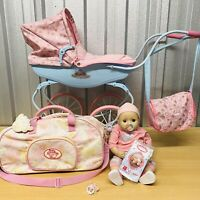 2016 Zapf Creation BABY ANNABELL Bundle - Doll, Pram, Holdall on Wheels & More!