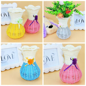 2018 Small Decorative Rattan Vase for  Wedding Table Home Decoration Random