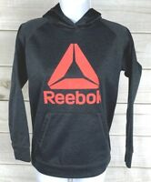 Reebok Women's Gray Pullover Sweatshirt Hoodie Size Medium Gray Pink EUC A3307