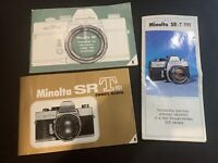 Vintage Lot of 1960's MINOLTA SR-T SRT 101 Camera Owner's Manual, Catalog & More