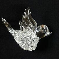 Hand Blown Lampwork Art Glass Hummingbird Christmas Ornament Spun Glass Body