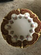 Antique Pouyat Limoges Hand Painted Plate with Lots of 22k Gold