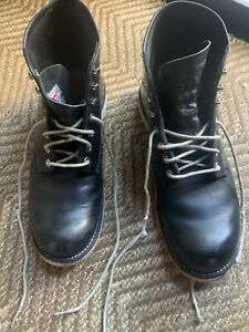 Red Wing Round Toe Black Size 9
