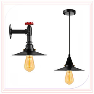 Vintage Pipe Wall Light Pendant Lighting Retro Lamp Rustic Industrial UK