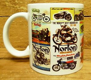300ML CERAMIC COFFEE MUG - NORTON MOTORCYCLES COLLAGE