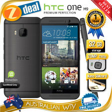 (NEW SEALED BOX) HTC ONE M9 32GB 4G LTE GREY 100% UNLOCKED PHONE + 12MTH AUS WTY