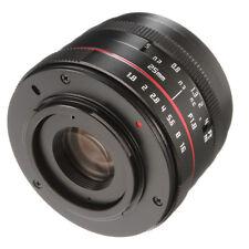 25mm F1.8 Prime Manual Focus Lens Fr Panasonic Olympus Micro M4/3 G2 E-PL1 E-PL2