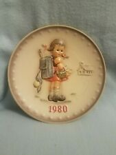 "1980 Hummel Annual Plate "" School Girl "" with original box"