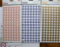Round TYPEWRITER Gold - BINGO Red/Cream - Blue/White Thicker Appr17mm Choice L2R