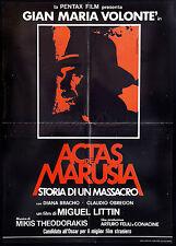 CINEMA-soggettone ACTAS DE MARUSIA STORIA DI UN MASSACRO volonté, LITTIN