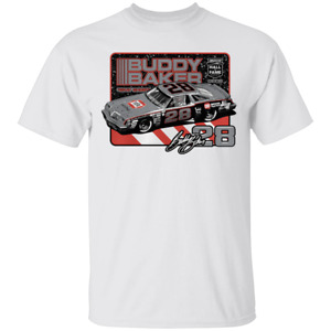 Men's Buddy Baker NASCAR Hall of Fame Class of 2020 White T-Shirt S-5XL
