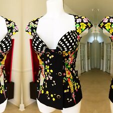 GIANNI VERSACE COUTURE black silk double breasted sleeveless top from 1993