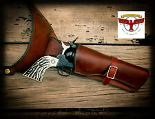 AZ Custom Stag™ Ruger B-Western Grips ~ New Vaquero, 50th Anv Flattop Montado SE