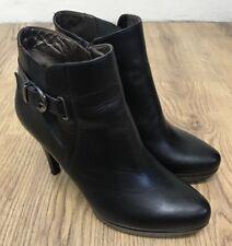 """NERO Giardini Tobillo Botas De Tacón Para Mujer Negro Tacones Zapatos Tacón De 4"""" Talla 36EU 3UK"""