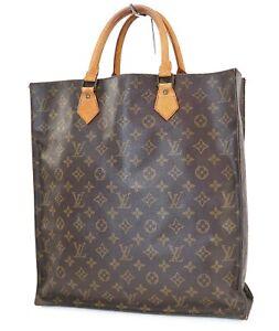 Authentic Louis Vuitton Sac Plat Monogram Tote Shopping Bag Purse #40165
