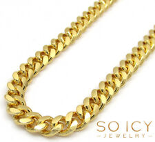 """30"""" 4.5mm 40 Grams 925 Sterling Yellow Silver Miami Cuban GP Chain Necklace Mens"""