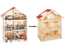PUPPENHAUS 3 Etagen Puppenstube Puppen-Wohnhaus Holzpuppenhaus Kinderpuppenhaus