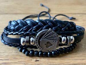 BSR Luda Vitae - Unisex Adjustable Bracelet Set of 3