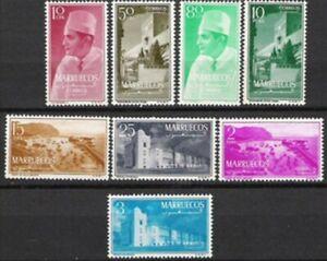 MARRUECOS ZONA NORTE 1956 EDIFIL 1-8 TIPOS DIVERSOS - SERIE COMPLETA MNH