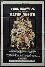 SLAP SHOT 1977 ORIGINAL 27X41 MOVIE POSTER PAUL NEWMAN MICHAEL ONTKEAN