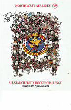 1991 Detroit Red Wings Vs Celebrity Stars, Auto'd by Jerry Houser...