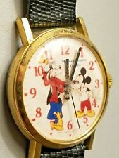 Vintage Rare DISNEY Mickey Mouse & Goofy Watch