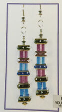 Jilly Bead Dare to be Square: Dusk Earrings Jewelry Making Kit