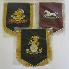 Yorkshire Regiments hand embroidered Pennant