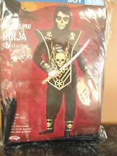 Boys Size Small 6 Skull Lord Ninja Halloween Costume New