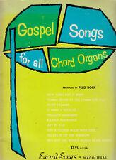 Gospel Songs For all Chord Organs-Fred Bock-Sheet Music