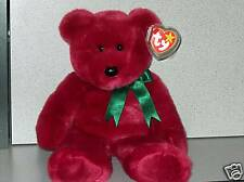 Ty Beanie Buddy Cranberry Teddy 1998 Retired LOOK!!!