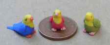 1:12 Scale 3 V Small Baby Parrots Dolls House Miniature Accessory Garden Birds