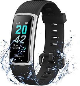 POWLAKEN Advanced Fitness Trackers HR,IP68 Waterpoof Activity Trackers with Rate