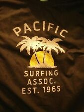 Trinity Men's XL Black Graphic T-Shirt Pacific Surfing Association New With Tags