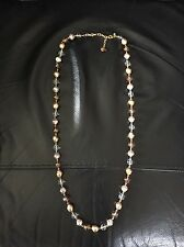 Joan Rivers QVC long Necklace In Gold Tone