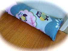 Girls owl theme door snake.  Washable,  asthma friendly. New and custom lengths