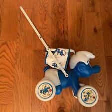 Vintage Smurf Doll Stroller