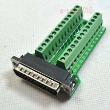 Right Angle D-SUB DB25 Male Header Breakout Board to Terminal Block Connector M
