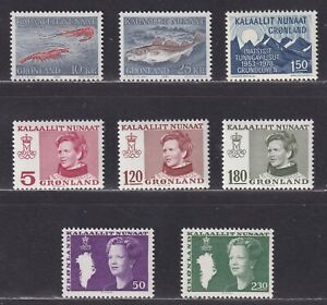 Greenland 1978-1987 Miscellaneous Issues XF MNH 8 Stamps 1 Souvenir Sheet