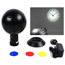 Analog Clock Led Wall/Ceiling Projection Led Clock Projector for Cafe Bar Black